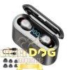 Écouteurs Intra-Auriculaires avec Boîtier de Charge TWS F9 - Noir